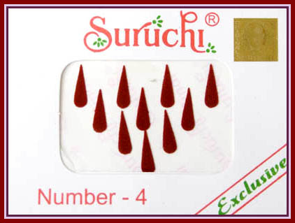 Suruchi Tear Drop Red Bindi #5